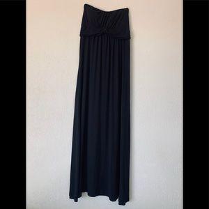 Poetry Maxi Long Black Dress
